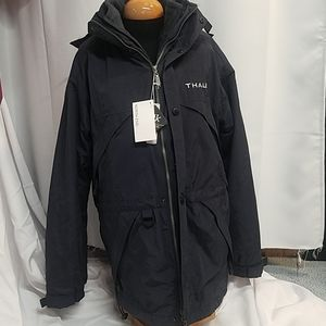 North End coat with Thales embroidered